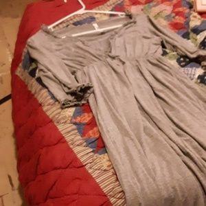 Large chapati dress long sleeve gray